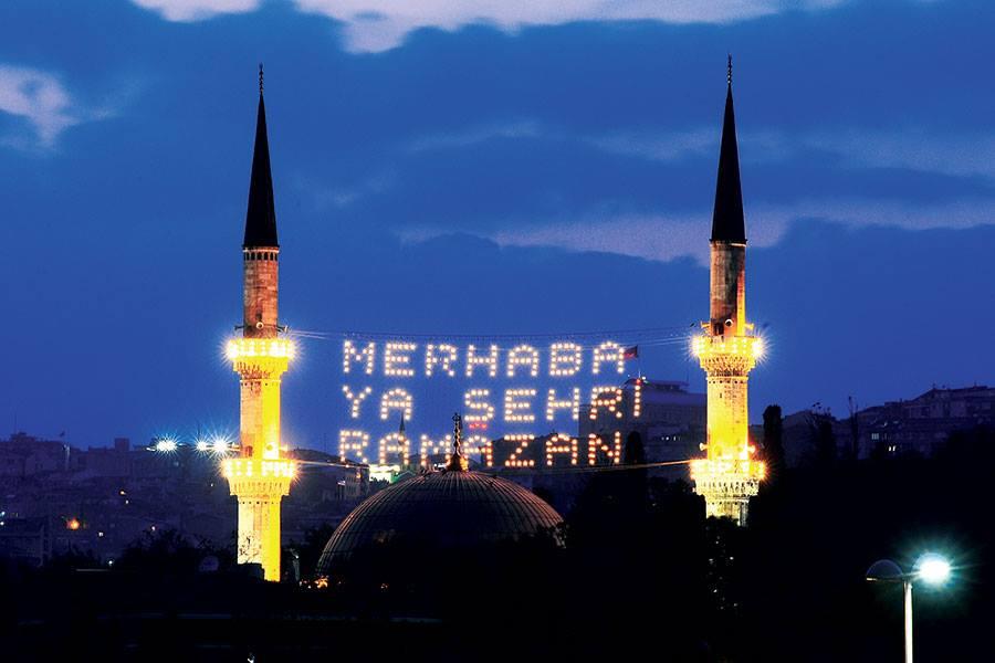 «الماهيه» أو شبكة إضاءة المآذن في تركيا