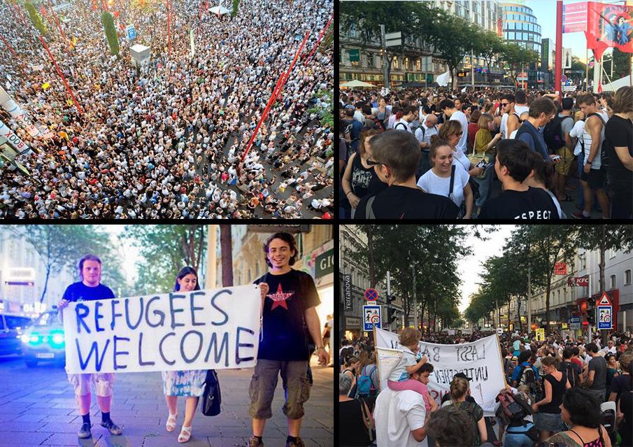 20.000 متظاهر للترحيب باللاجئين في «فيينا»