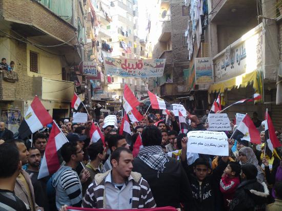 الشكل (2): تظاهرات بشرق الأسكندرية