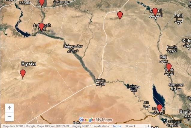 مناطق خسرتها داعش