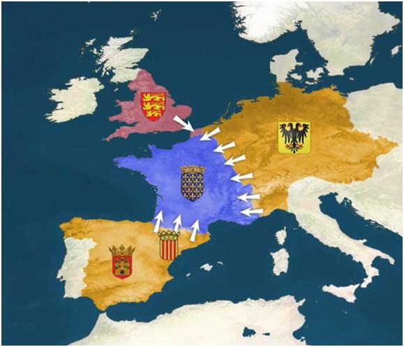 القرون الوسطى فرنسا آل هابسبورغ