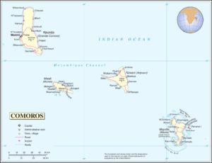 خريطة جزر القمر