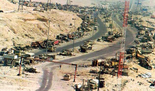 الدمار الذى لحق بالجيش العراقى حرب الخليج عام 1991