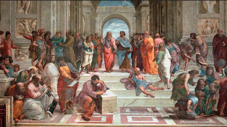 مدرسة أثينا, إيطاليا, رافائيل, لوحة فنية, علماء الفلسفة