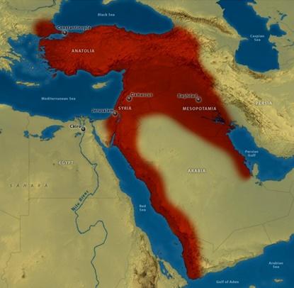 خريطة الدولة العثمانية 1914