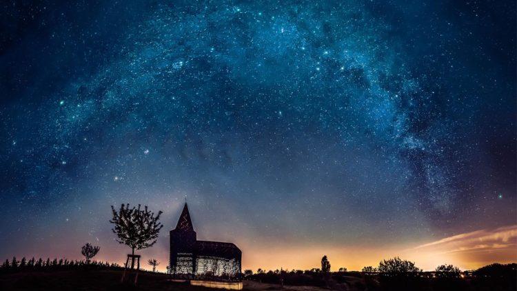 سماء الليل فلك تعلم مجرة درب التبانة تصوير