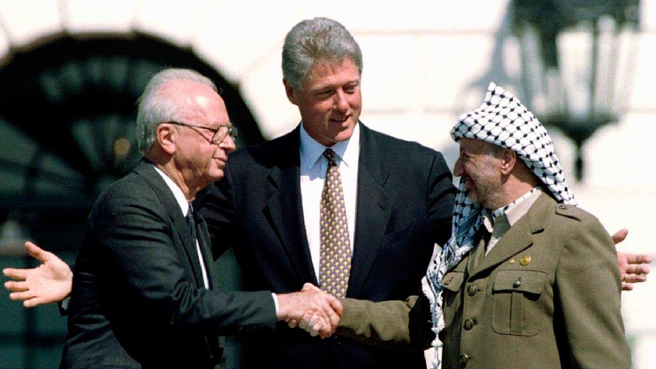 ياسر عرفات، بيل كلينتون، إسحاق رابين
