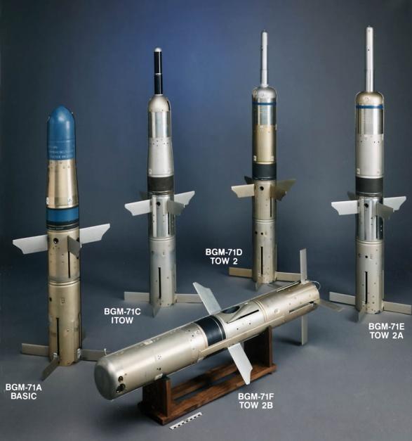 عائلة صواريخ التاو المضادة للدبابات