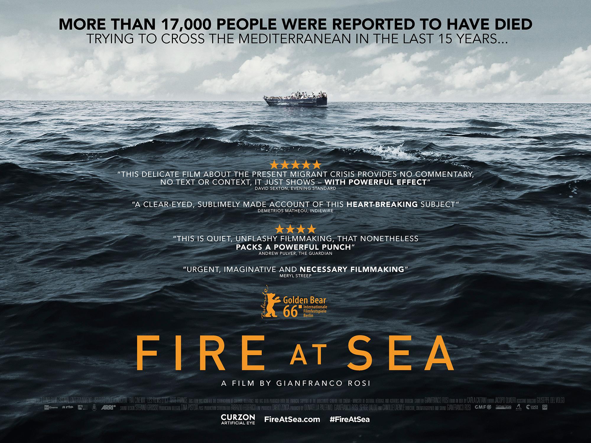 بوستر فيلم حريق فى البحر