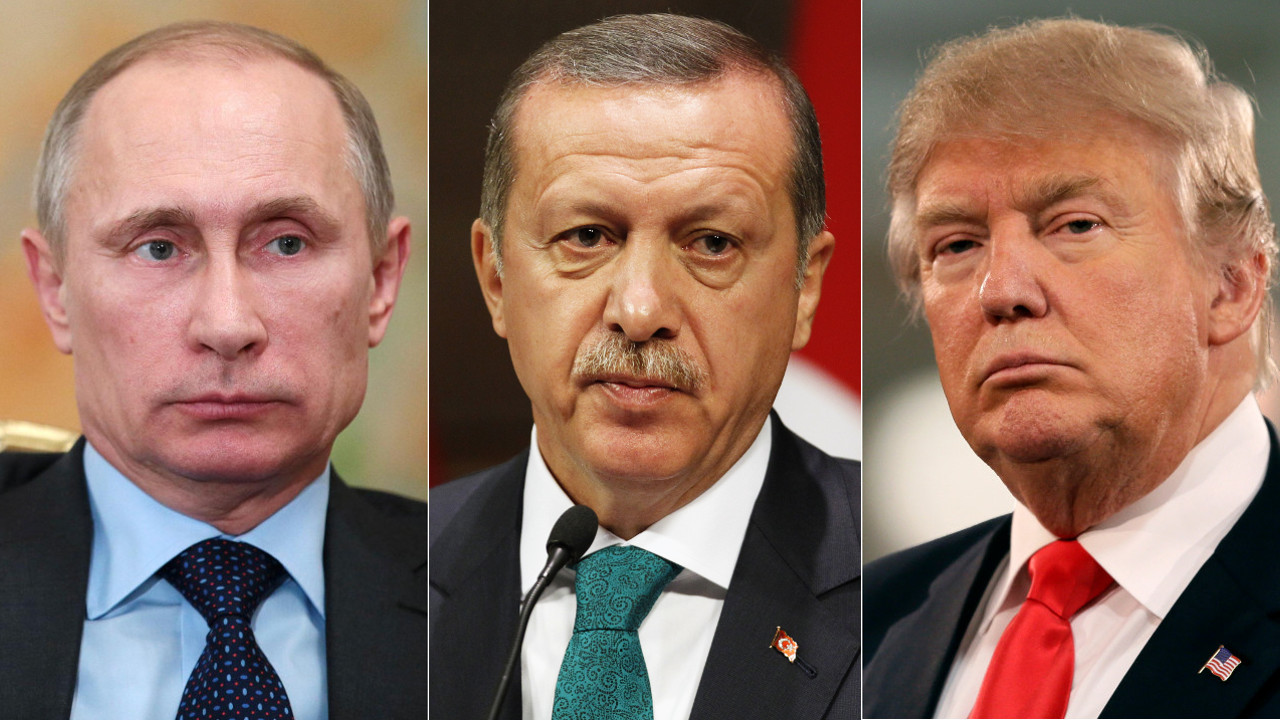 فلاديمير بوتين، رجب طيب أردوغان، دونالد ترامب