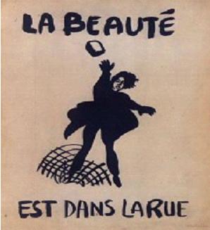 «الجمال في الشارع».. صورة لأحد الملصقات الثورية من 68