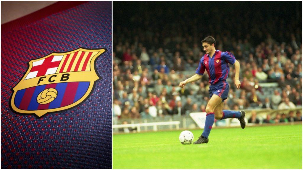 أرنيستو فالفيردي لاعبًا في فريق برشلونة بين عامي 1988 و 1990.