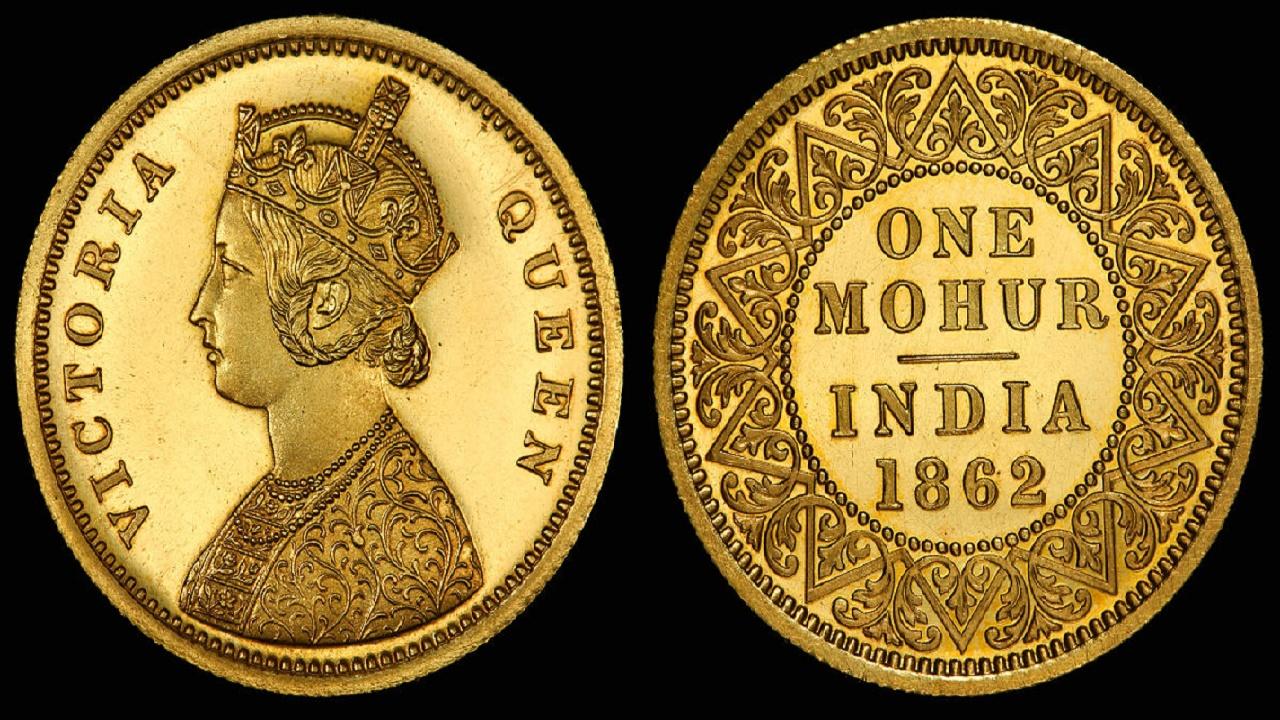 العملة البريطانية في الهند المستعمرة