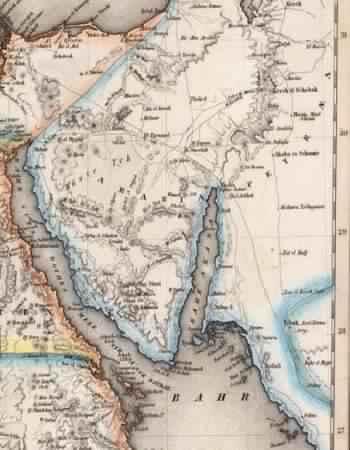 خريطة، مصر، الحجاز