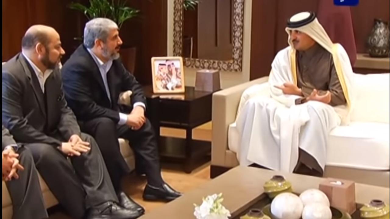 تميم بن حمد، خالد مشعل، قطر، حماس