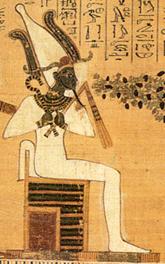 صورة للمعبود المصري القديم أوزوريس