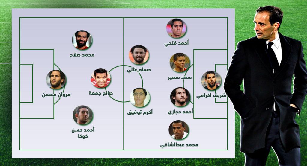 ماكس أليجري، تشكيل أليجري، منتخب مصر