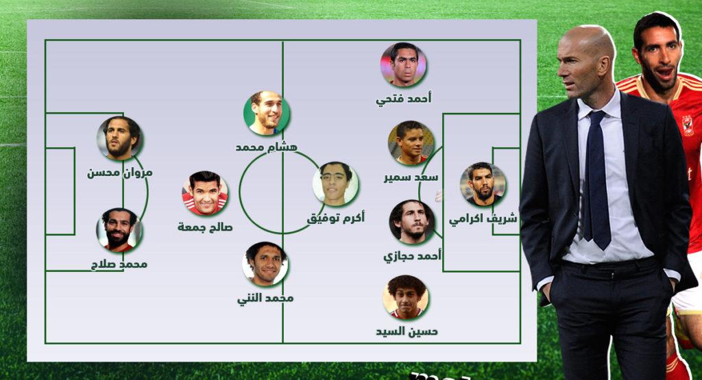 تشكيلة زيدان، زين الدين زيدان، منتخب مصر