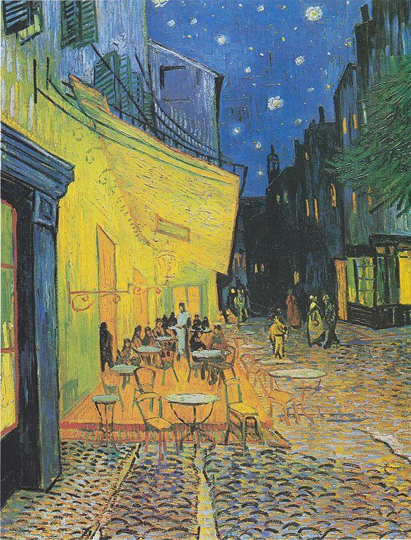 شرفة مقهى في الليل, فان جوخ