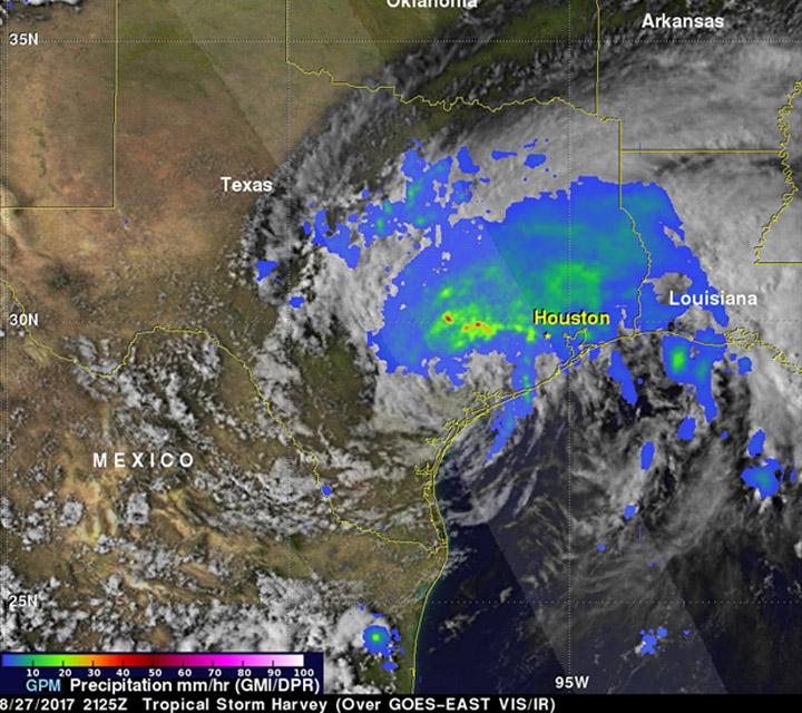 صورة الأقمار الصناعية للإعصار هارفي