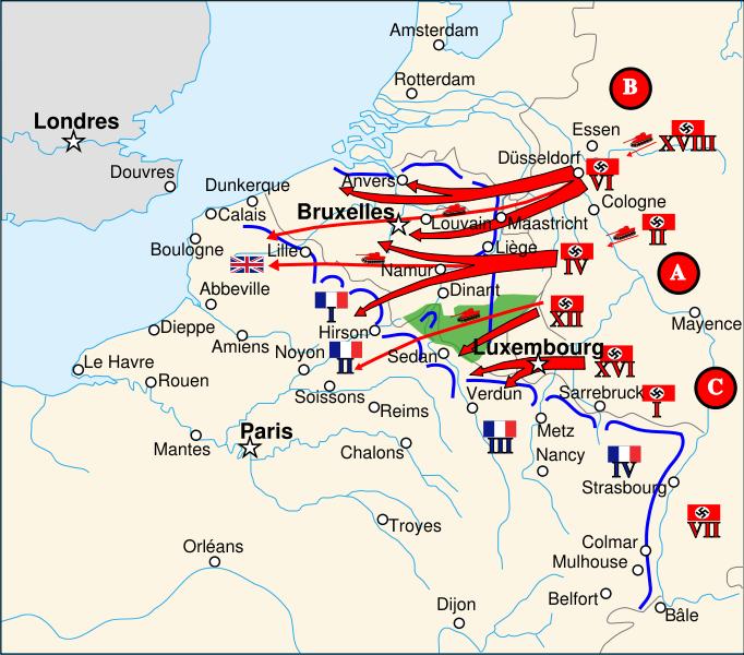 خطة مانشتين لغزو فرنسا 1940
