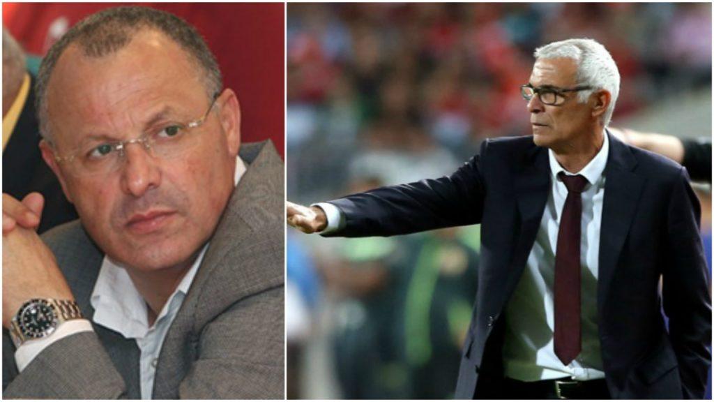 هيكتور كوبر، وهاني أبوريدة رئيس الاتحاد المصري لكرة القدم