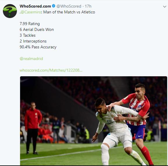 كاسيميرو، ريال مدريد، ديربي مدريد