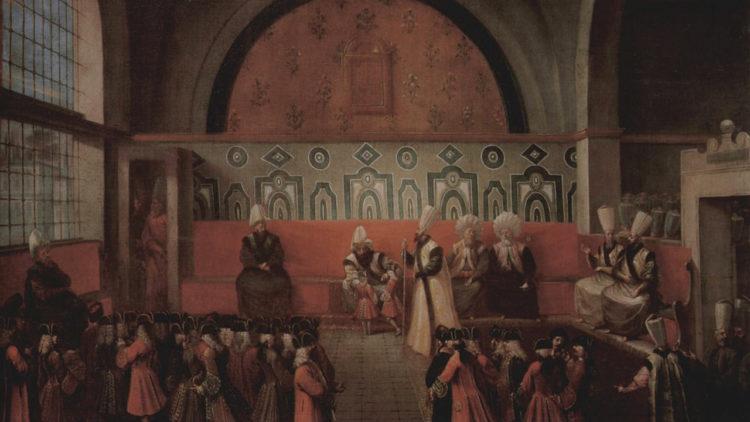 جان بابتيست فانمور، الصدر الأعظم يسمح بالاجتماع في قصر الباب العالي.