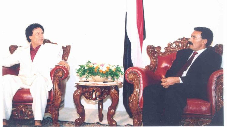 علي عبدالله صالح, اليمن, القذافي