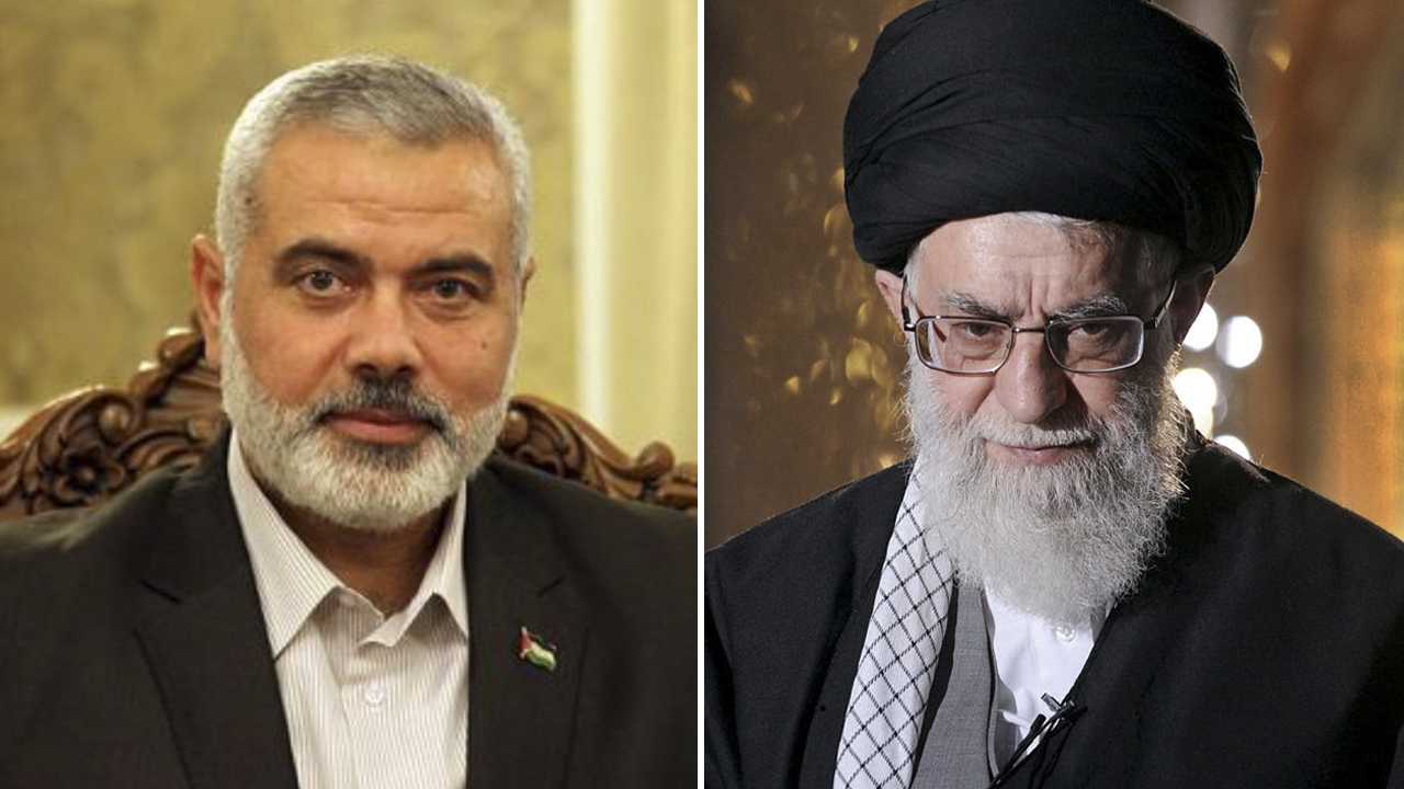 علي خامنئي، إسماعيل هنية، حماس، إيران