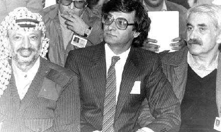جورج حبش، محمود درويش، ياسر عرفات