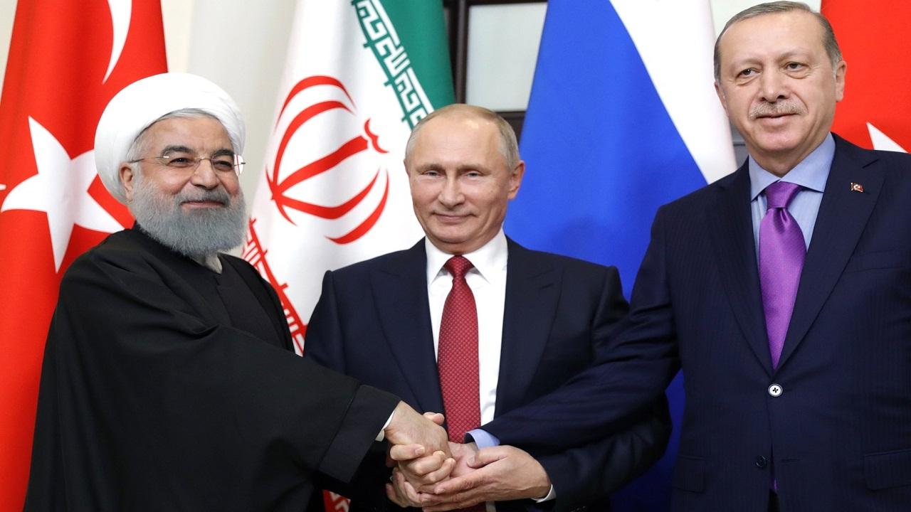 لقاء بين رؤساء تركيا وروسيا وإيران