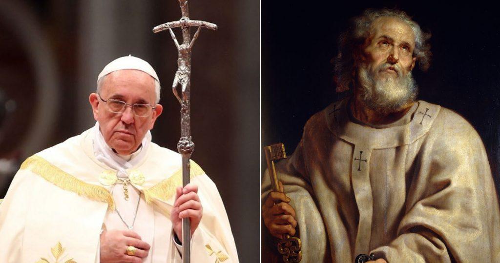 القديس بطرس الرسول والبابا فرنسيس