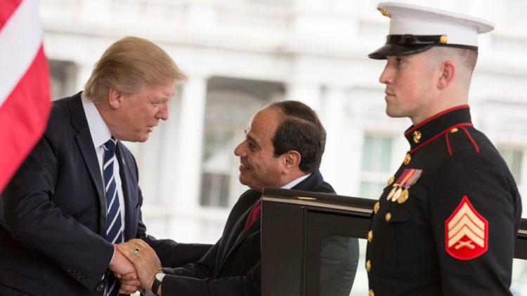 دونالد ترامب, عبدالفتاح السيسي, مصر, الولايات المتحدة الأمريكية, اتفاقيات دولية