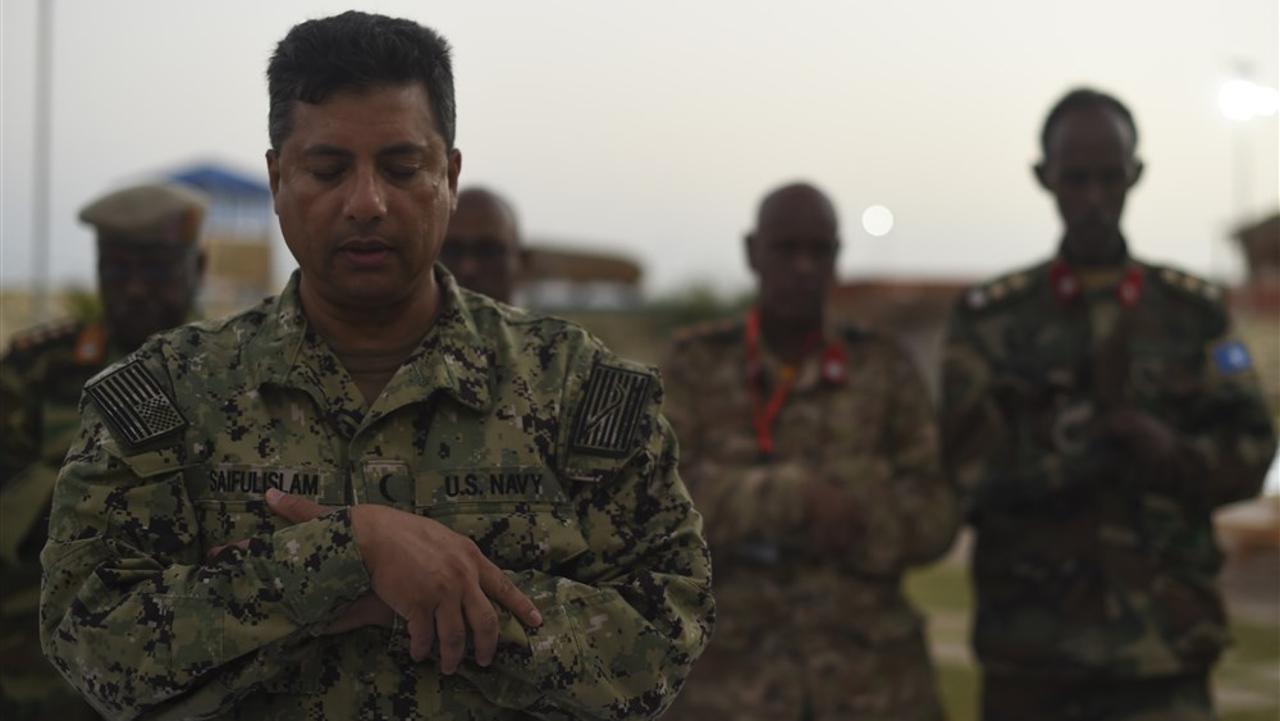 الولايات المتحدة الأمريكية, جيبوتي, جنود المارينز, صلاة, أفريقيا