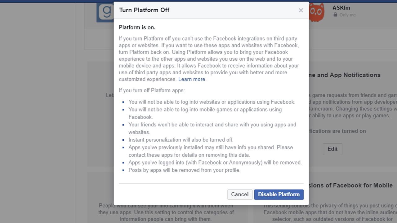 فيسبوك, خصوصية, أذونات, تقنية