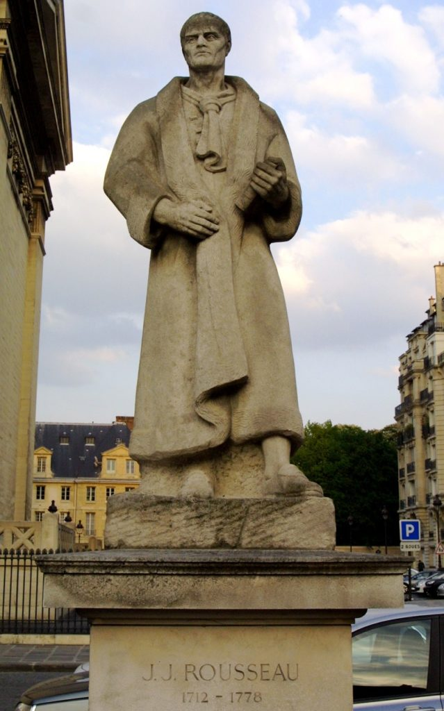 جان جاك روسو، بلاس دو بانثيون، باريس