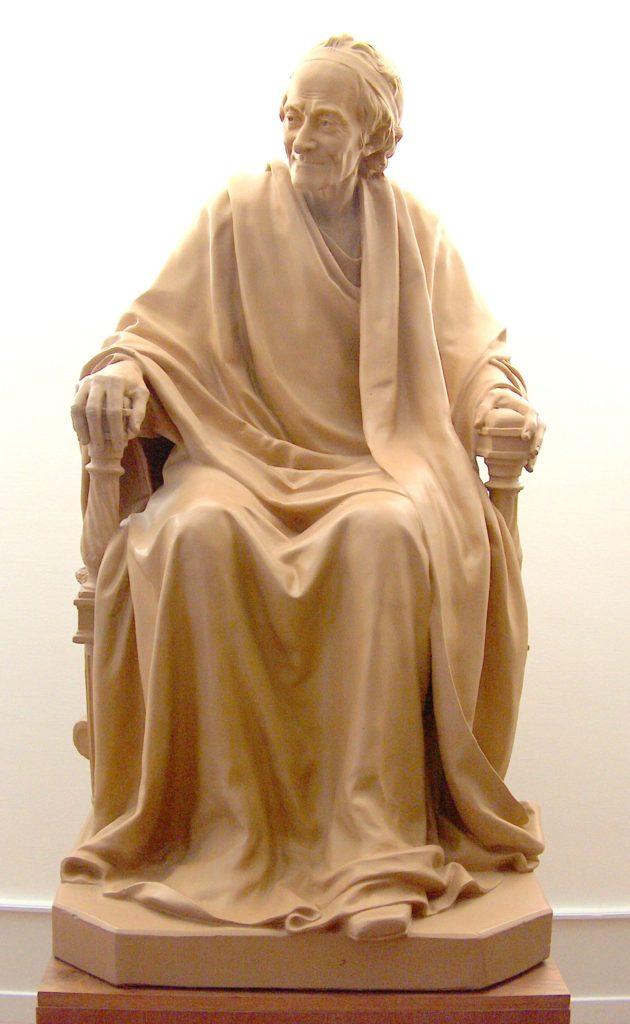 تمثال فولتير، في معهد ومتحف فولتير،بسويسرا.