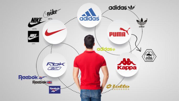 نايك، أديداس، شعارات، رياضة