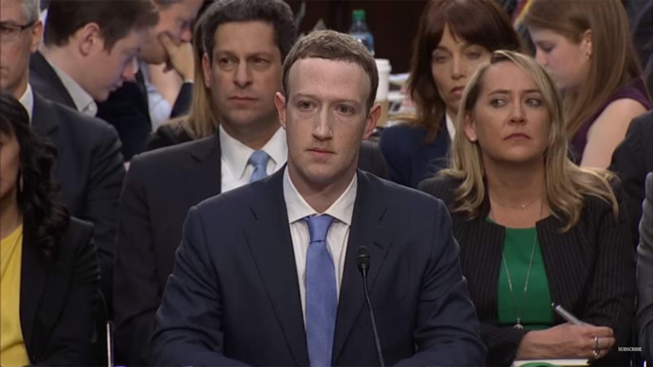 مارك زوكربرغ, فيس بوك, جلسة استماع الكونجرس
