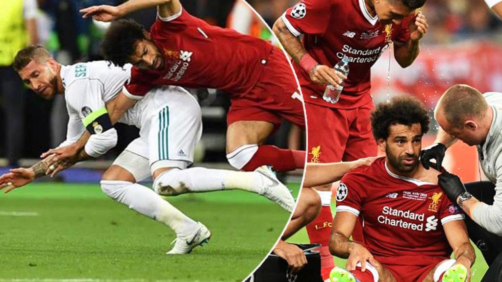إصابة محمد صلاح, ليفربول, ريال مدريد, راموس, نهائي دوري الأبطال, إصابات الكتف, تشخيص