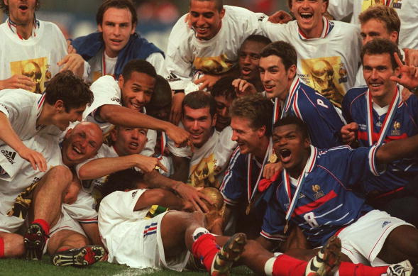 فرنسا, كأس العالم 1998, كرة القدم