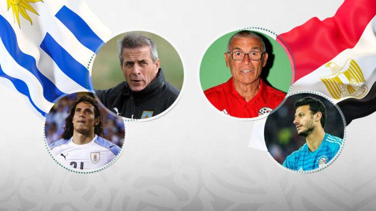 المنتخب المصري, كأس العالم 2018, الأوروجواي, روسيا, هيكتور كوبر, محمدالشناوي, أوسكار تاباريز, إديسون كافاني