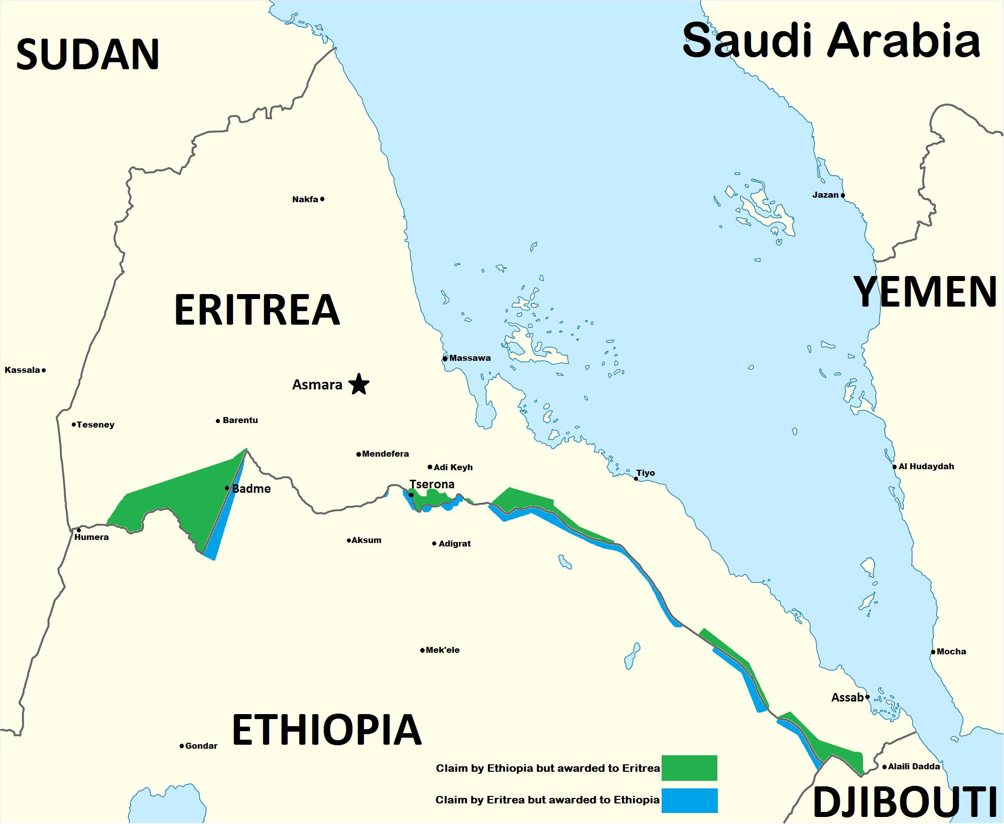إثيوبيا، إرتريا