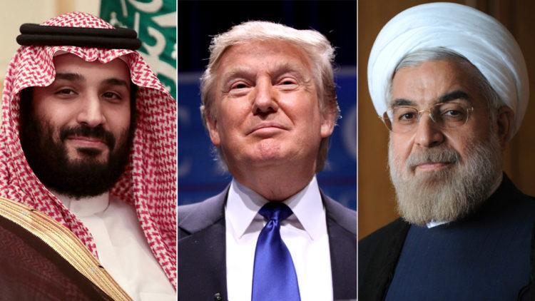 حسن روحاني, دونالد ترامب, محمد بن سلمان, إيران, الولايات المتحدة الأمريكية, السعودية
