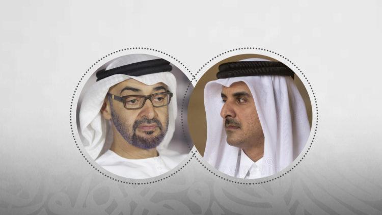 تميم بن حمد آل ثاني، محمد بن زايد، قطر، الإمارات