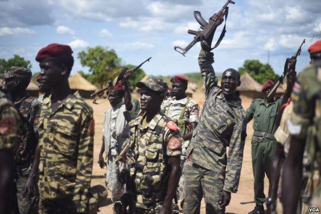 أفراد من جيش تحرير شعب السودان