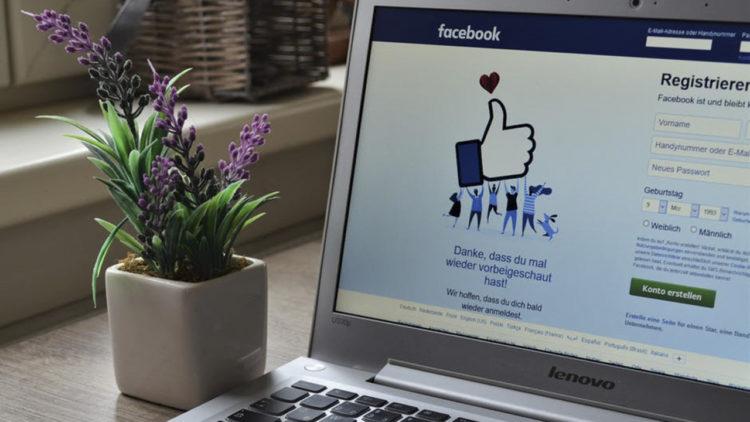 فيسبوك، لابتوب، تسجيل الدخول