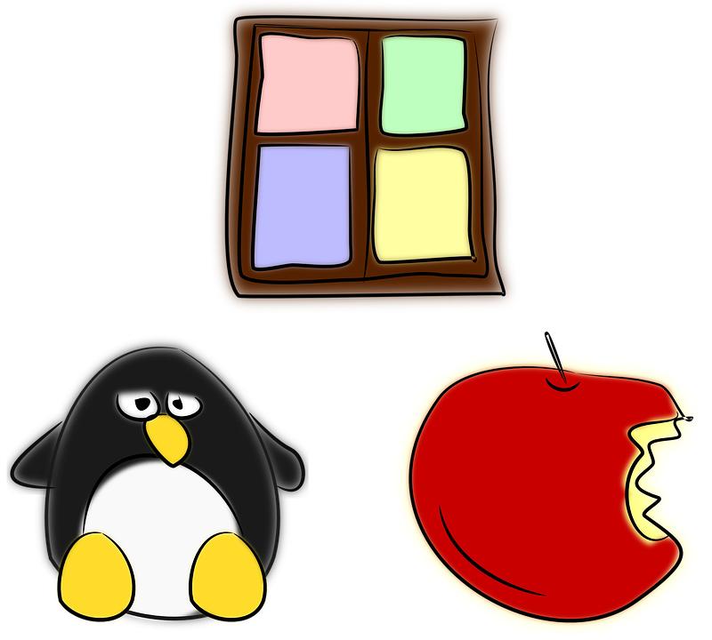 آبل، لينكس، ويندوز، أنظمة تشغيل