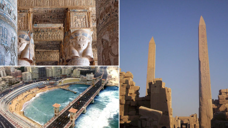 أثار مصر, عجائب مصر, المسلتان, معبد دندرة, مدينة الإسكندرية